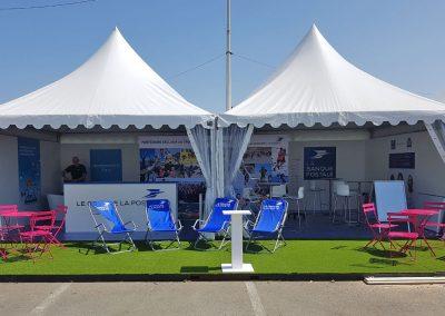 Stand chapiteau Concept expo à la course Edhec à Brest