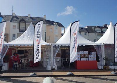 Stand chapiteau Concept Expo à l'Edhec au Crouesty