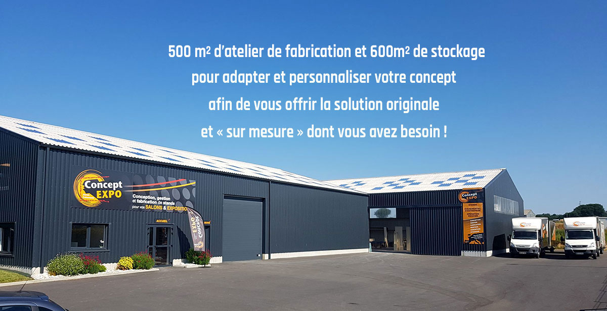 Le bâtiment Concept expo à Landivisiau, Finistère, Bretagne